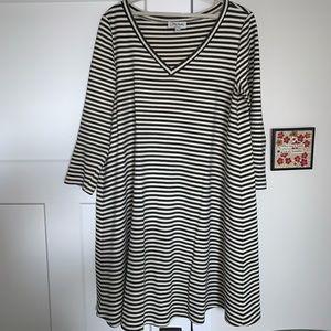 Any Matto pointe stripe dress